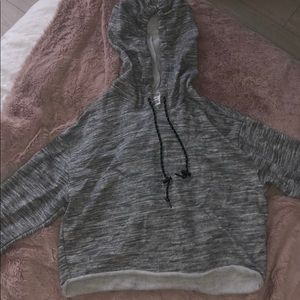Cropped Gray Hoodie from Pink